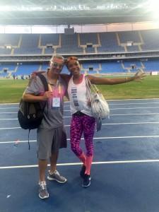 Deborah Rodríguez y entrenador Andrés Barrios