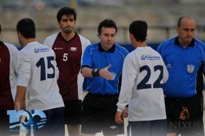 Liga Universitaria de Deportes saludo deportivo entre competidores y jueces