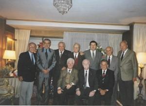 Alberto  Lerena, Walter Schiaffarino, Juan Carlos Moro, José Tucci, Gabriel Delmonte, Walter Sacco y Max Mainzer, sentados Walter Pérez Soto, Eduardo Rocca Couture y José Figueras.